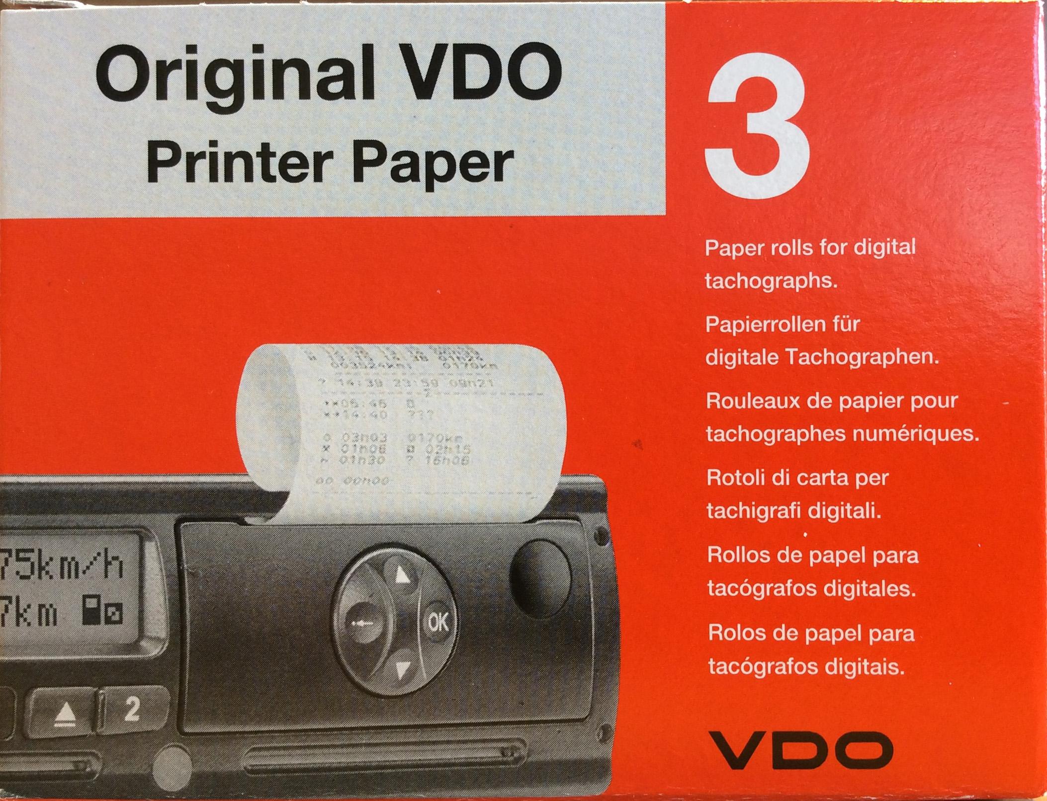 Original VDO printer paper 3